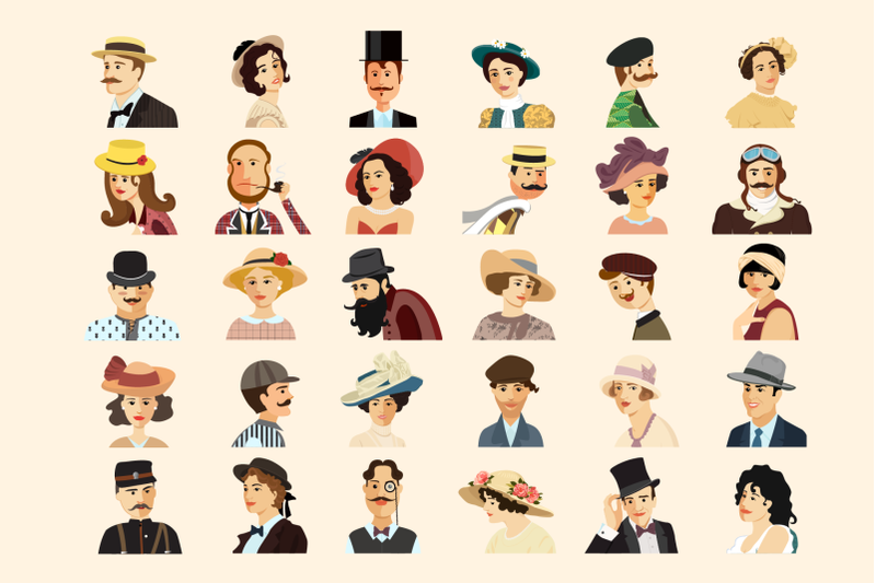 30 Retro Avatars: People Vector Cartoon Collection + Free Bonus (backgrounds & ribbons) - 800 3671030 4fs7na53k1c5vkvzg03lh5b09ovco7vdzj1yaxze avatars retro people vector cartoon collection