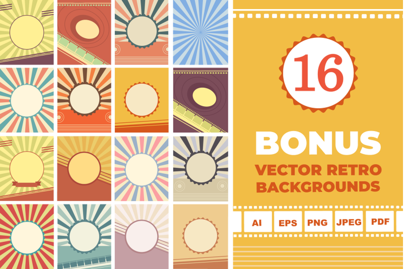 30 Retro Avatars: People Vector Cartoon Collection + Free Bonus (backgrounds & ribbons) - 800 3671030 ciby570s00p2het33x5rebbchnwep59xrylig9tx avatars retro people vector cartoon collection