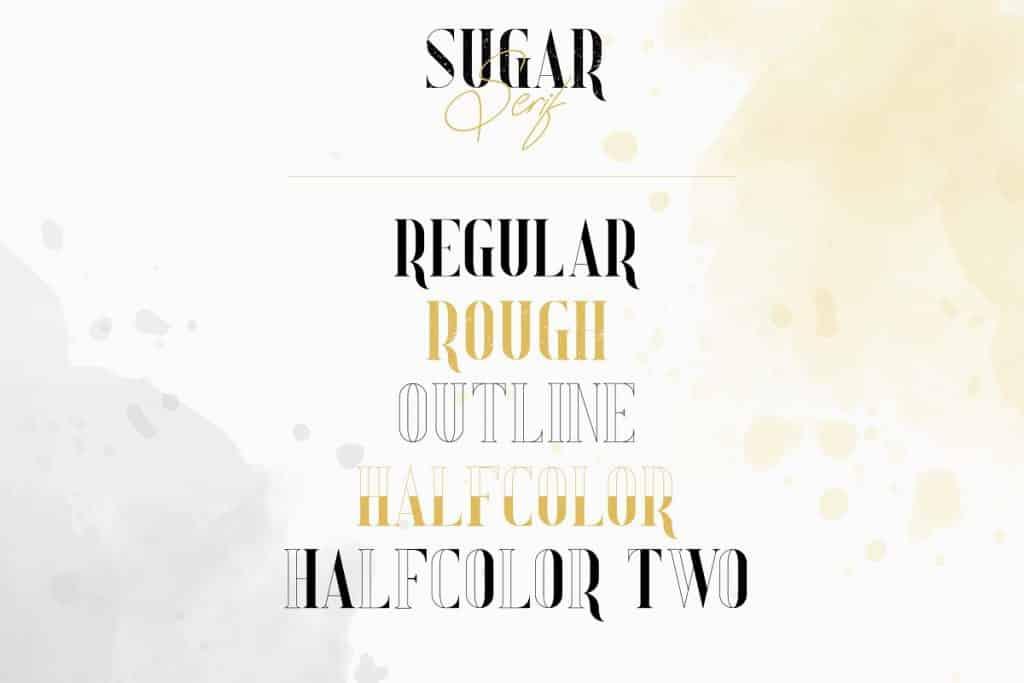 Sugar Spice Typography Bundle: fonts, frames, letters, backgrounds - 9 4