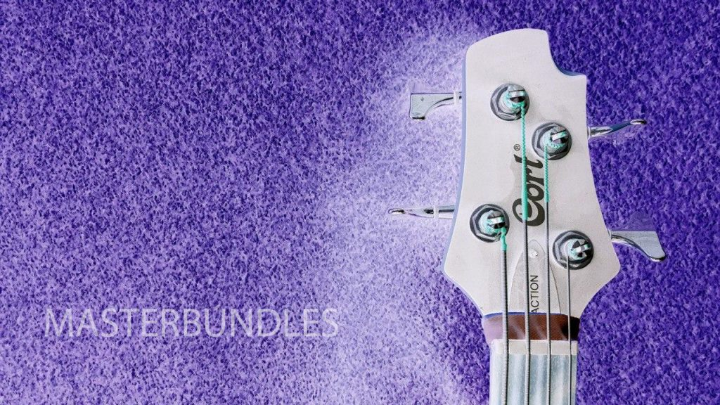 Guitar Background Bundle: 10 Music Backgrounds Invert Style - 9