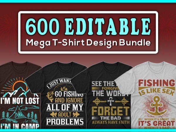 Minimalist T-shirt Design: 600 Mega Editable T-shirt Designs Bundle – 99% off - Main 7 600x450
