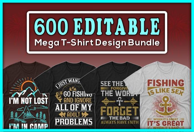 Minimalist T-shirt Design: 600 Mega Editable T-shirt Designs Bundle – 99% off - Main 7
