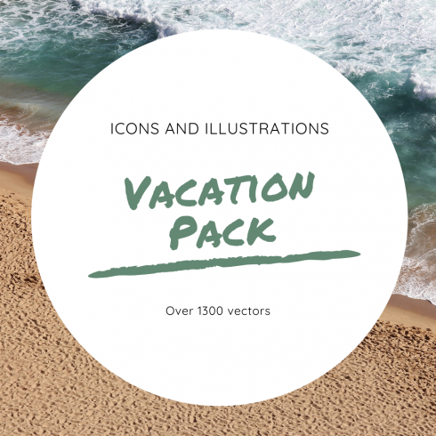 Travel Icon & Illustrations: Vacation Pack - $13 - The Worlds Best Beaches 490x490