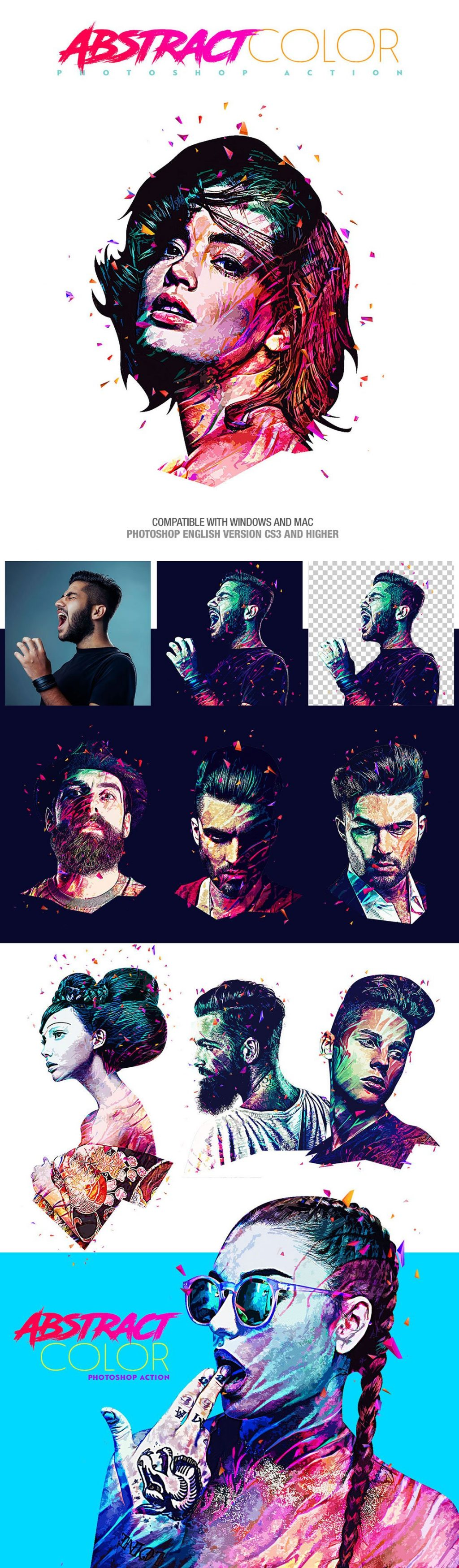 Photoshop Actions & Templates: Artistic Photo FX Bundle - abstract color photoshop action design by amorjesu