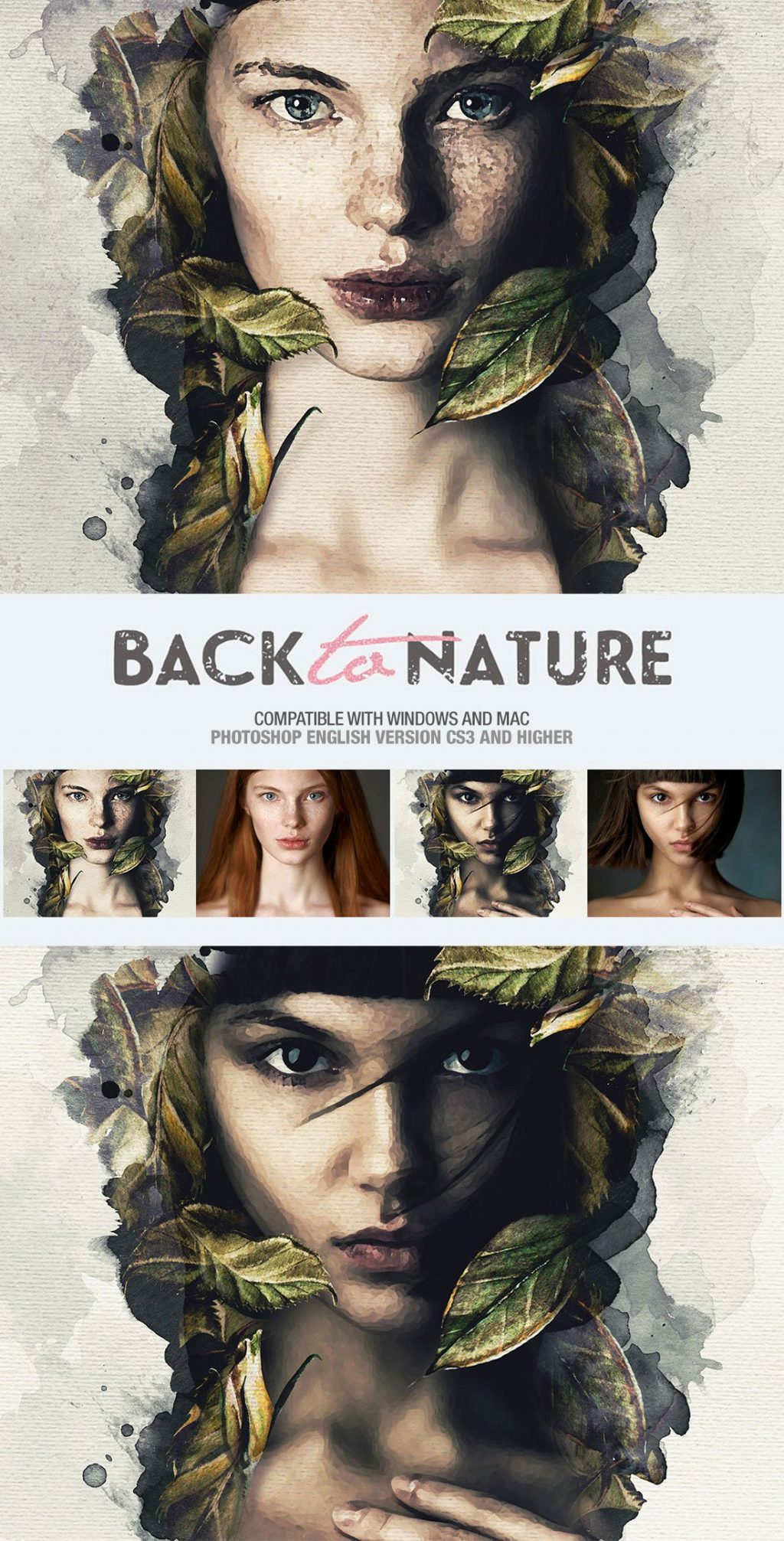 Photoshop Actions & Templates: Artistic Photo FX Bundle - back to nature photo template design by amorjesu