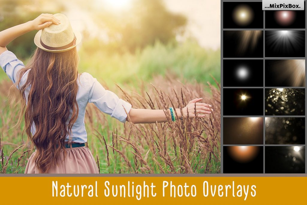 60 Natural Sunlight Photoshop Add-Ons $8 - cover