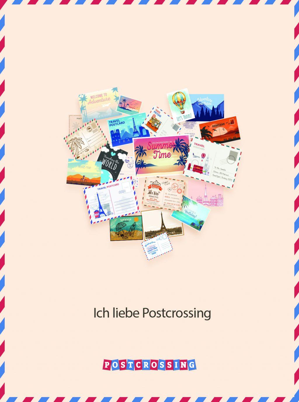 I Love Postcrossing Free Postcard - de 1