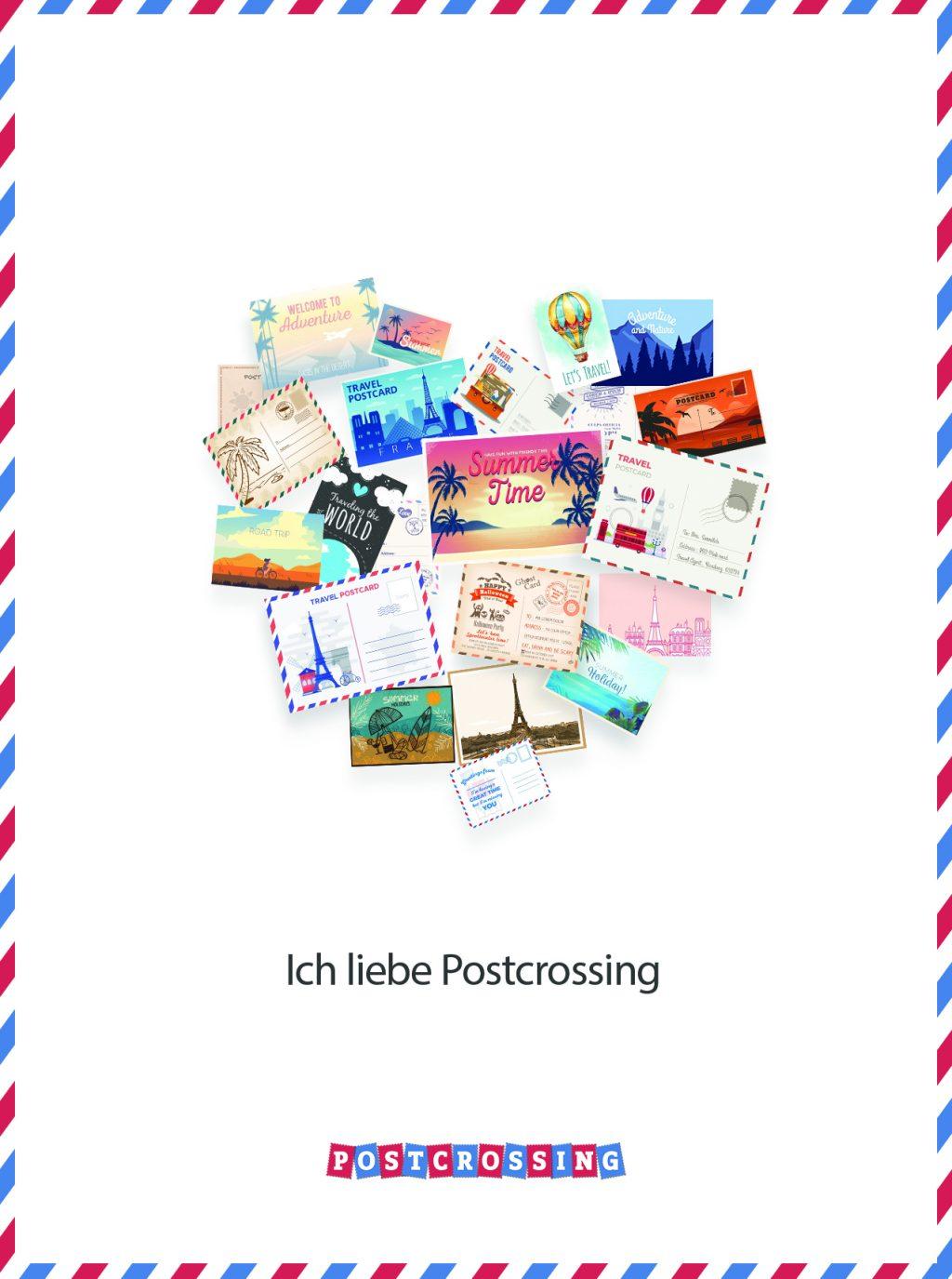 I Love Postcrossing Free Postcard - de1 1