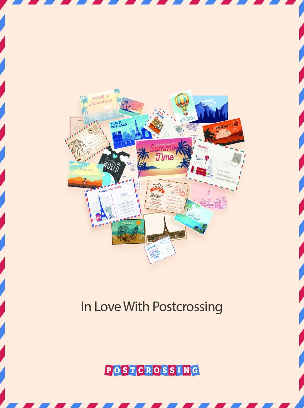 I Love Postcrossing Free Postcard - en1