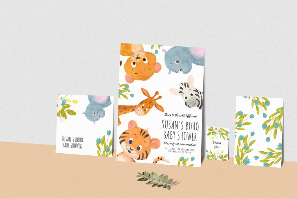 30 Wild Little Animals Hand-drawn Illustrations - mockup framepaper