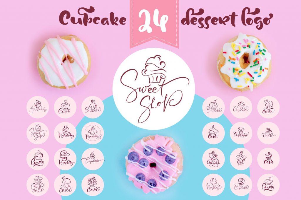 Cupcake Dessert Logo - $29 - title01 min 1