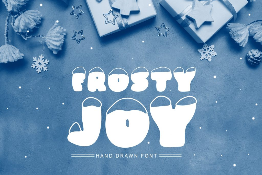 Frosty Joy Hand Drawn Display Font. Best Winter Font - title01 min 2