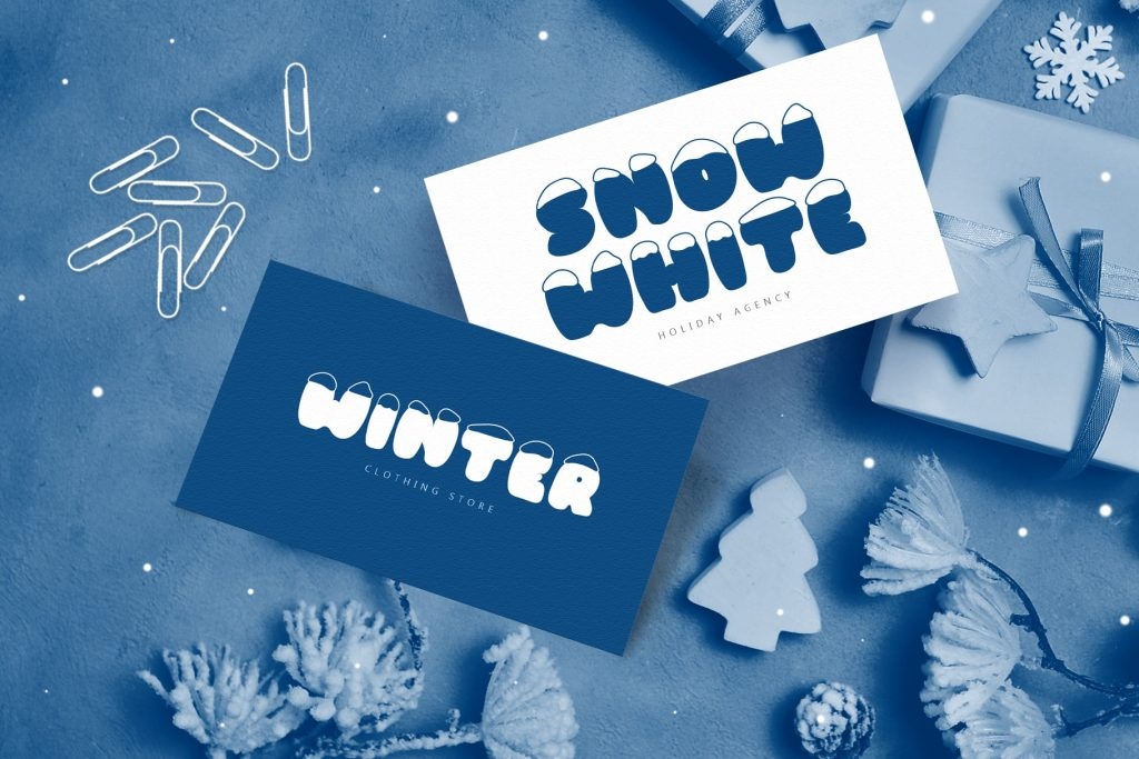 Frosty Joy Hand Drawn Display Font. Best Winter Font - title02 min 2