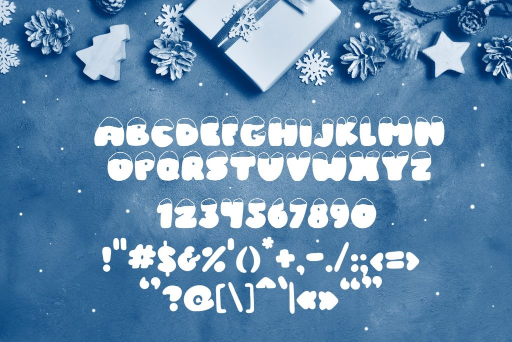 Frosty Joy Hand Drawn Display Font. Best Winter Font - title06 min 2