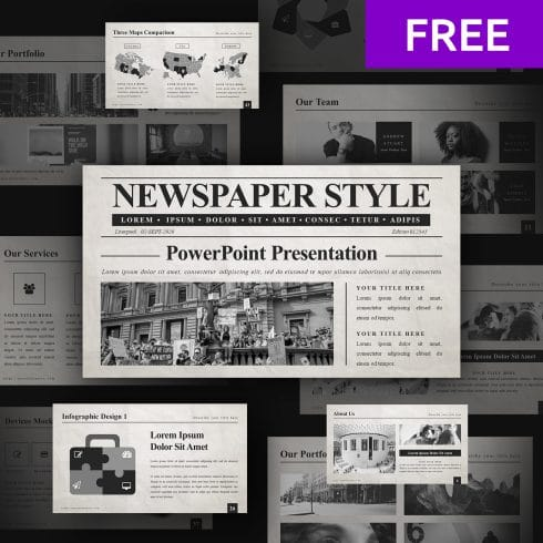 5 Free Newspaper Google Slides Template In 2020 - 01 2 1 490x490
