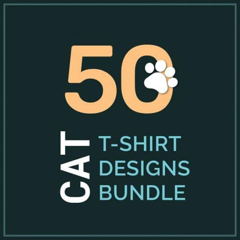 Cat Shirts: 50 Cat T-shirt Designs Bundle - 01 2 490x490