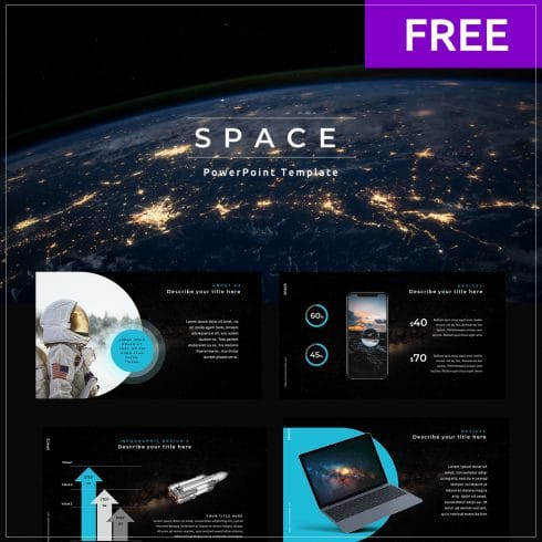 Free Google Slides Space Theme. 5 Best FREE Slides in 2020 - 01 3 490x490