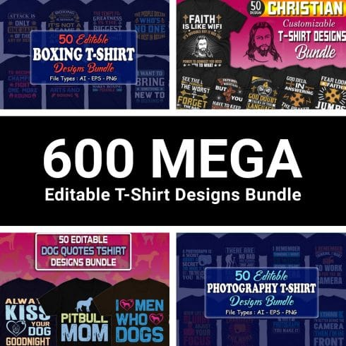 Minimalist T-shirt Design: 600 Mega Editable T-shirt Designs Bundle – 99% off - 01 retina 4 490x490