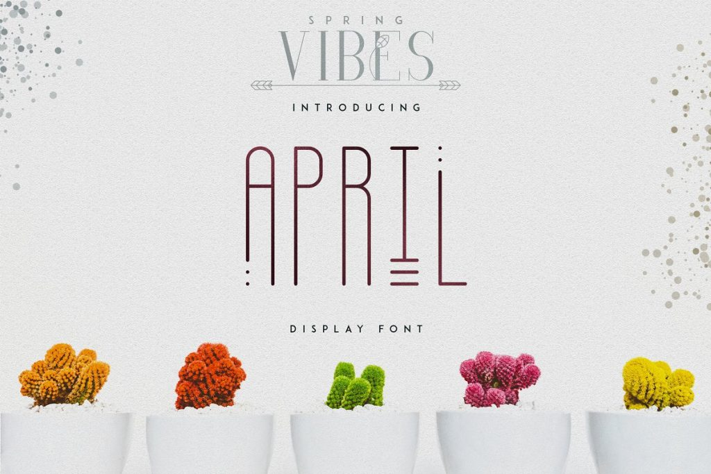 April Display Font - $11 ONLY - 1
