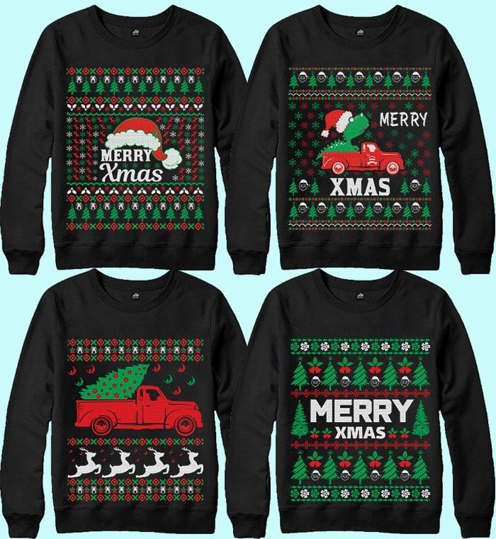 70 Printable Ugly Christmas Sweater Design Bundle - 1 31