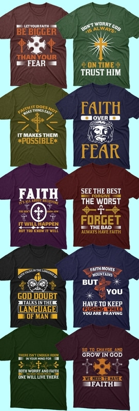 50 editable Christian T-shirt Design Bundle - 1 34