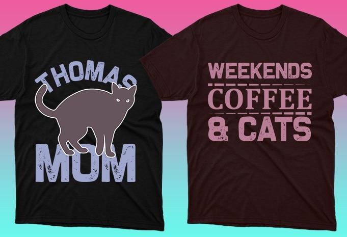 Cat Shirts: 50 Cat T-shirt Designs Bundle - 1 59