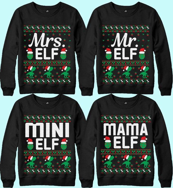 70 Printable Ugly Christmas Sweater Design Bundle - 10 16