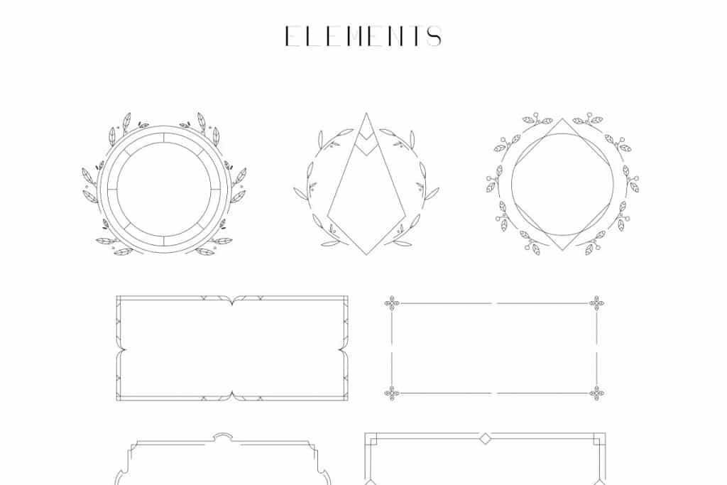 Georgia Luxurious Serif font + Graphics - 10 2
