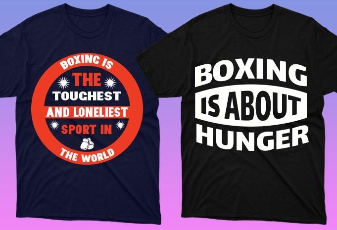 50 Boxing Shirt Designs Bundle: Sport Shirt Design - 10 23