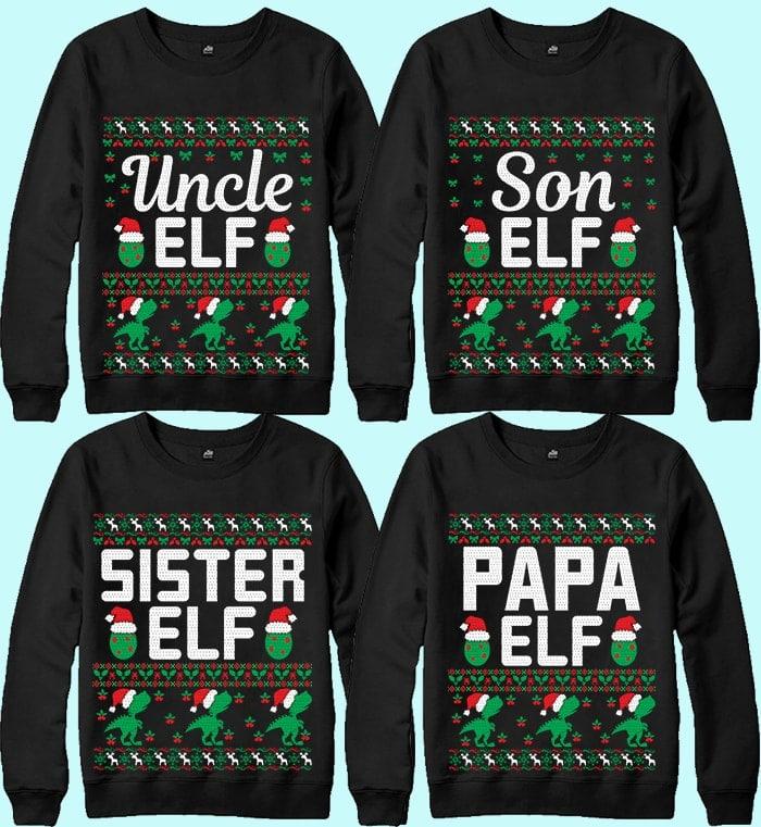 70 Printable Ugly Christmas Sweater Design Bundle - 11 13