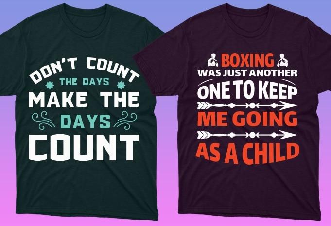 50 Boxing Shirt Designs Bundle: Sport Shirt Design - 11 17