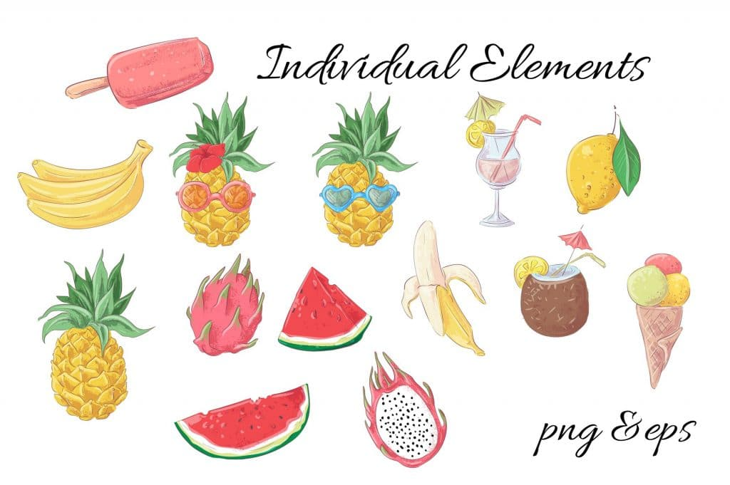 Summer Time Clipart - 38 Individual Elements - 11