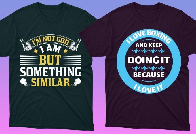 50 Boxing Shirt Designs Bundle: Sport Shirt Design - 13 16
