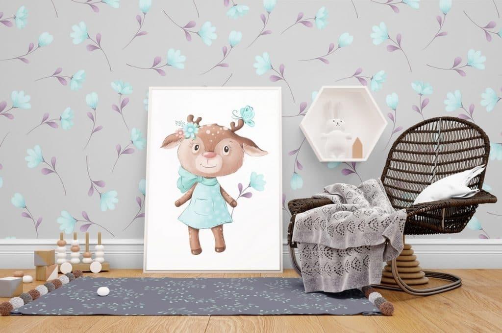 Watercolor Deer & Cute Animals Set: Racoons, Hedgehogs, Flowers, Wreaths PNG - 14 1