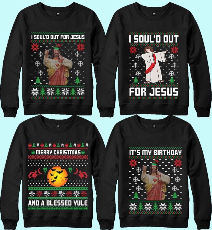 70 Printable Ugly Christmas Sweater Design Bundle - 14 15