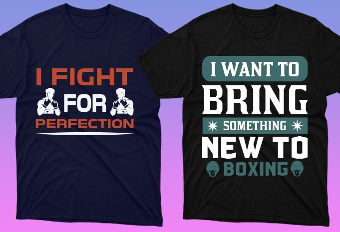 50 Boxing Shirt Designs Bundle: Sport Shirt Design - 14 19