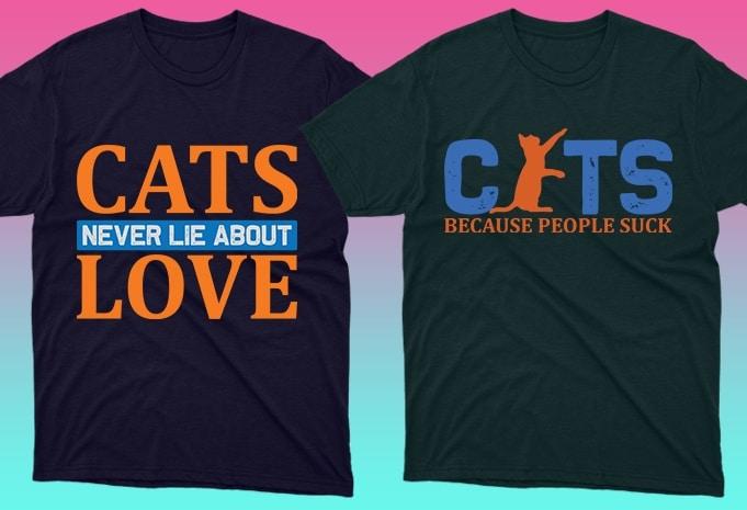 Cat Shirts: 50 Cat T-shirt Designs Bundle - 14 20