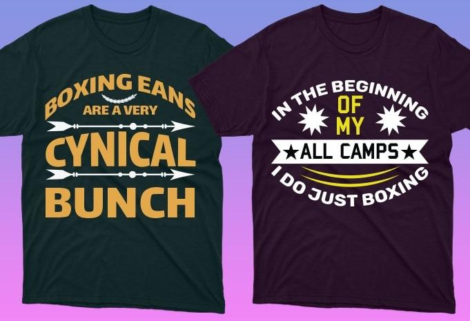 50 Boxing Shirt Designs Bundle: Sport Shirt Design - 15 17