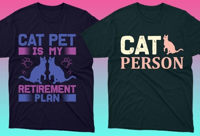 Cat Shirts: 50 Cat T-shirt Designs Bundle - 16 17