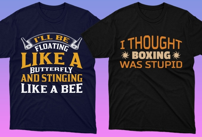 50 Boxing Shirt Designs Bundle: Sport Shirt Design - 17 16