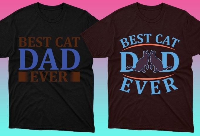 Cat Shirts: 50 Cat T-shirt Designs Bundle - 17 17