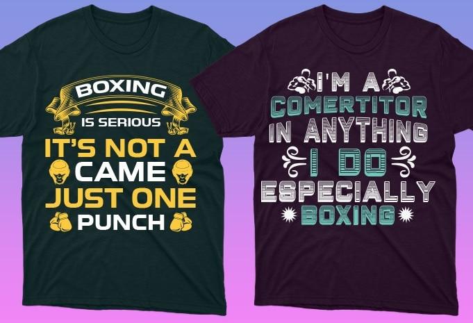 50 Boxing Shirt Designs Bundle: Sport Shirt Design - 18 16