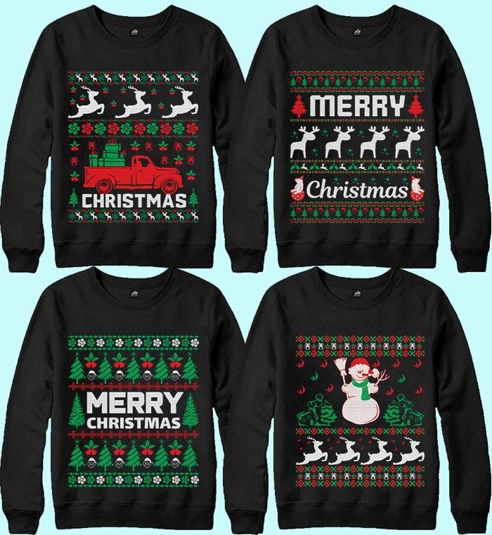 70 Printable Ugly Christmas Sweater Design Bundle - 2 26