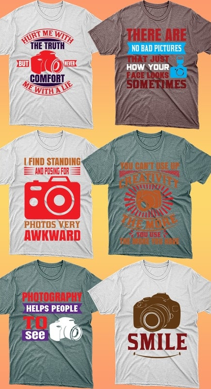 50 Editable Photography T-shirt Designs Bundle - 2 33