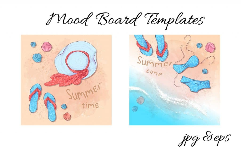 Summer Time Clipart - 38 Individual Elements - 2 4