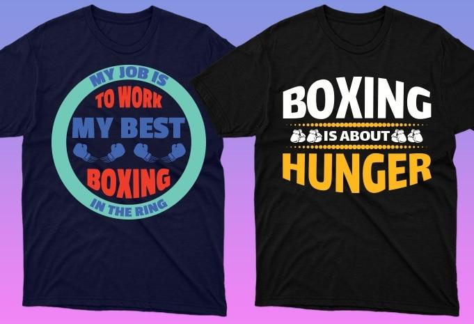 50 Boxing Shirt Designs Bundle: Sport Shirt Design - 2 49