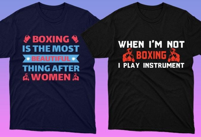 50 Boxing Shirt Designs Bundle: Sport Shirt Design - 23 10