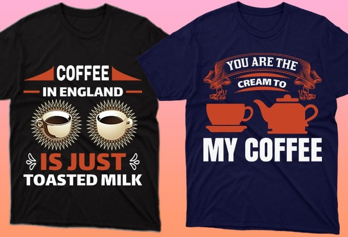 Two cups of coffee and a Turk, the smell of coffee is felt through the T-shirts.