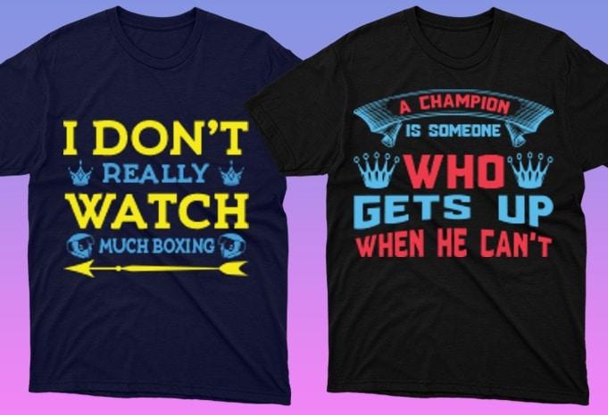 50 Boxing Shirt Designs Bundle: Sport Shirt Design - 24 10