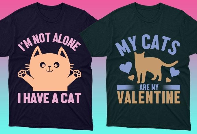 Cat Shirts: 50 Cat T-shirt Designs Bundle - 24 11